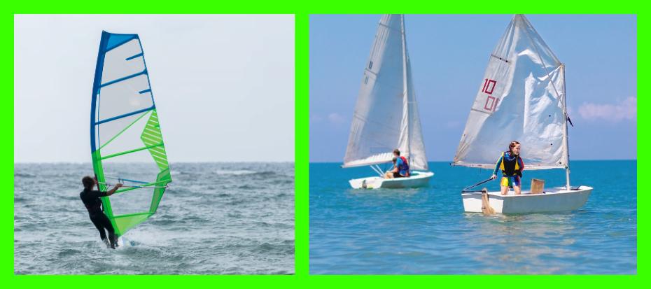 Windsurfen of zeilen